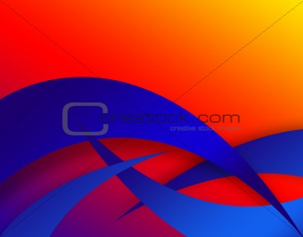 Abstract Swoosh Layout