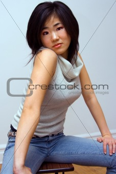 Beautiful Oriental woman with attitude