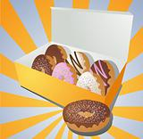 Donuts in a box
