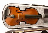 Violin in case