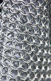 background metal chain mail