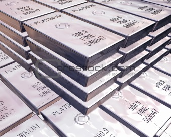 stacks of platinum bars