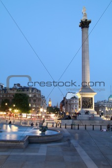 Nelson's Column at Twilight