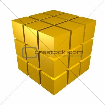 3d metal cubes