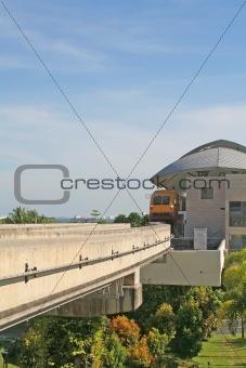 Modern Railway Train Station