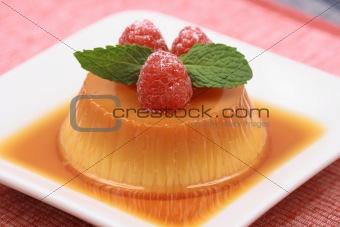 flan sweet dessert