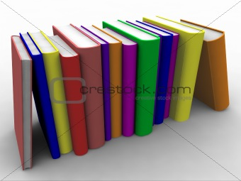 3d Books stacked