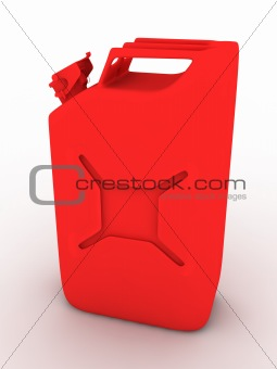 3D fuel container isolated on white