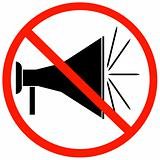 no megaphones allowed