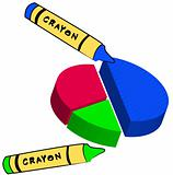 crayon coloring circle graph