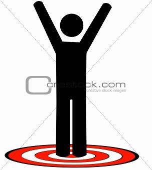 attaining a target