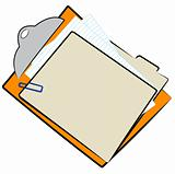 clipboard and file folder