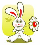 bunny and flower
