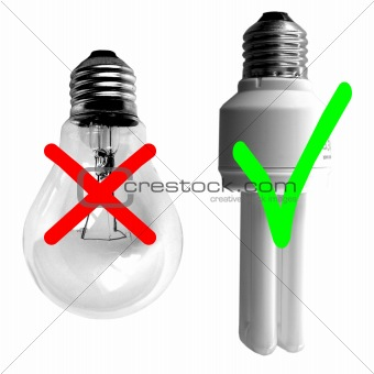 Traditional vs Fluorescent Light bulb