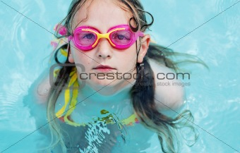 portrait of swimming girl