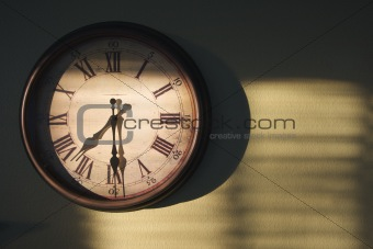 Antique Clock On Wall
