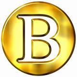 3D Golden Letter B