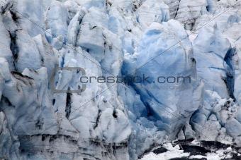 Blue Icy Portage Glacier Crevaces Alaska