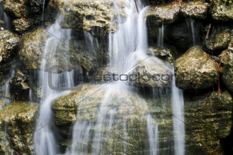 Waterfall over stones