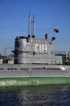 Old Soviet submarine