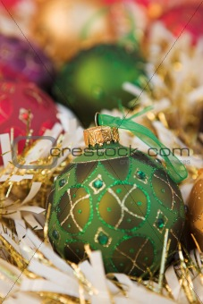 Christmas baubles & tinsel