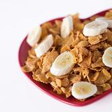 Cornflakes & sliced banana