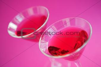Raspberry cosmopolitan cocktails