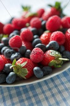 Plateful of berries