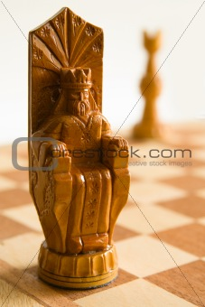 King on chess board