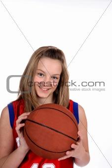 Basketball teenage girl
