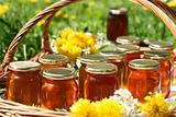 Fresh dandelion honey