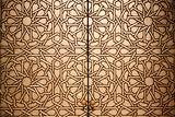 Close up shot of a Moroccan doorway