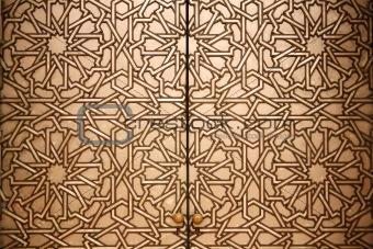 Close up shot of a Moroccan doorway
