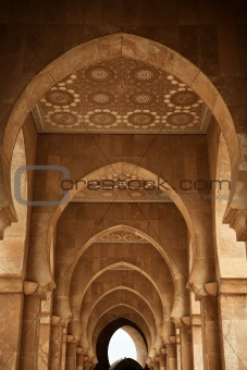 Archway at Hassan II mosque - Casablanca