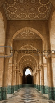Archway at Hassan II mosque