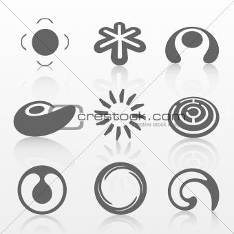 Grey logo set