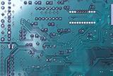 Cyan blue motherboard