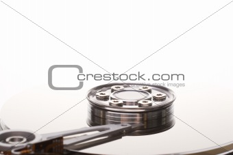 Close up on a hard disk