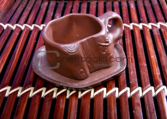 clay cup for tea