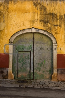 Beautiful door in a wall