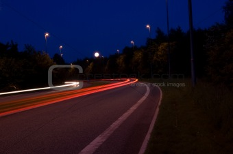 Car Lights, Night Photo