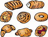 Pastries illustration