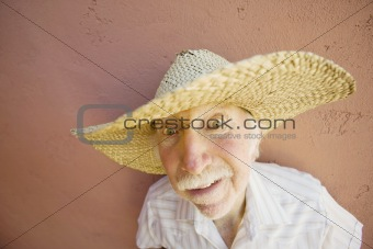 Man in a straw hat