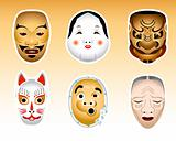 Japan Noh and Kyogen masks | Set 1