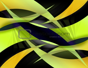 Abstract Yellow Swooshes