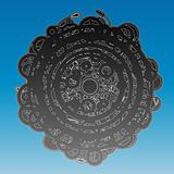 Abstract ancient circle design background