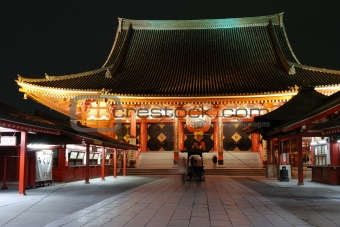 Asakusa Temple by night