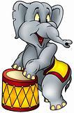 Elephant circus performer