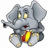 Elephant and ball
