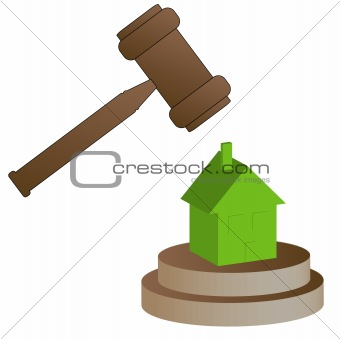 gavel smashing house